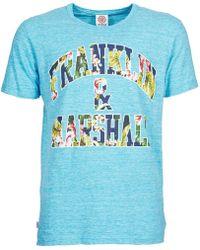 Franklin & Marshall - Bomeri Men's T Shirt In Blue - Lyst