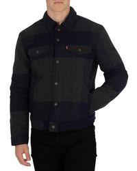 Levi's - Levis Men's Wool Trucker Jacket, Blue Men's Jacket In Blue - Lyst