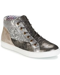 Dream in Green - Molimela Women's Shoes (high-top Trainers) In Grey - Lyst