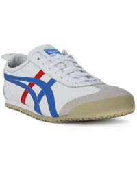 Asics - Onitsuka Tiger Mexico 66 White_blue Women's Shoes (trainers) In White - Lyst