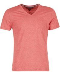 Tommy Hilfiger - Htr End On End Men's T Shirt In Pink - Lyst