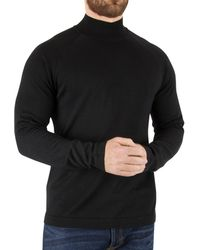 J.Lindeberg - Men's File Turtleneck Silk Knit, Black Men's Jumper In Black - Lyst