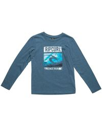 Rip Curl - Icon Search Ls Tee Boys's In Blue - Lyst