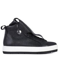 Armani - Jeans Trainer Women's Shoes (high-top Trainers) In Black - Lyst