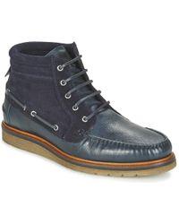 BOSS by Hugo Boss - Tuned Halb Men's Mid Boots In Blue - Lyst