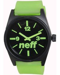 Neff - Daily Watch - Black / Green Men's Analogue Watches In Green - Lyst