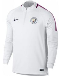 3d62f007c Nike - 2017-2018 Man City Training Drill Top Men's Sweatshirt In White -  Lyst