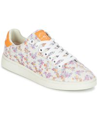 Pepe Jeans - Club Flowers Women's Shoes (trainers) In White - Lyst