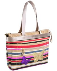 Tintamar - Linear Printed Bag And Patterns Clemence Beige / Multicolour Wom Women's Handbags In Beige - Lyst