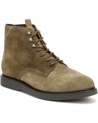 Hudson Jeans - Mens Olive Suede Aldford Boots Men's Shoes (high-top Trainers) In Green - Lyst