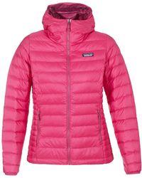 Patagonia - W's Down Jumper Hoody Women's Jacket In Pink - Lyst