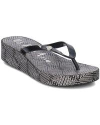 U.S. POLO ASSN. - Filly4215s8g1blk Women's Flip Flops / Sandals (shoes) In Black - Lyst