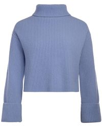 Jucca - Light Blue Anise Turtleneck Jumper Women's Jumper In Other - Lyst