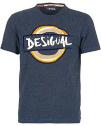 Desigual - Reasso Men's T Shirt In Blue - Lyst
