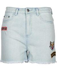 American Retro - Boris Women's Shorts In Blue - Lyst