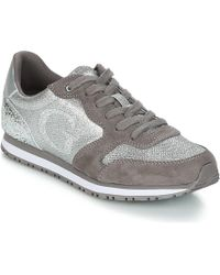 Guess - Johnny Women's Shoes (trainers) In Silver - Lyst