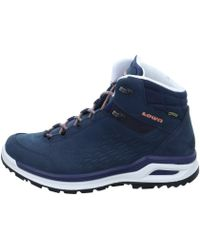 Lowa - Locarno Gtx Qc Men's Shoes (high-top Trainers) In Blue - Lyst