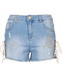 Desigual - Dreoj Women's Shorts In Blue - Lyst