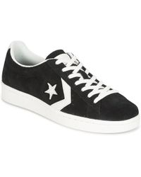 Converse - Pro Leather 78 Ox Men's Shoes (high-top Trainers) In Black - Lyst