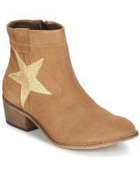 Betty London - Makana Women's Low Ankle Boots In Beige - Lyst