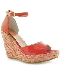 Pepe Jeans - Irina Coral Patentvegetal Lth Women's Sandals In Red - Lyst