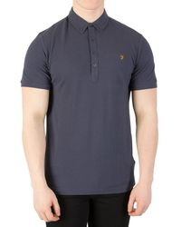 Farah - Men's Merriweather Polo Shirt, Blue Men's Polo Shirt In Blue - Lyst
