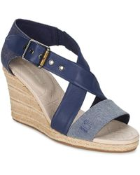 G-Star RAW | Aria Salon Women's Sandals In Blue | Lyst