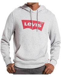 Levi's - Levis Batwing Logo Hoodie Women's Sweatshirt In Grey - Lyst