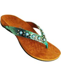 Vionic - Rest Floriana Women's Flip Flops / Sandals (shoes) In Green - Lyst