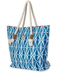 Rip Curl   Beach Bazaar Beach Bag Lsbic4 Women's Shopper Bag In Blue   Lyst