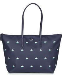b4613941c41656 Lacoste - L 12 12 Concept Croc Large Shopping Bag Women s Shoulder Bag In  Blue -