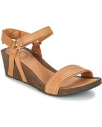 Teva - Ysidro Stitch Wedge Women's Sandals In Brown - Lyst
