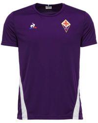 f23e0cbf54f Le Coq Sportif - 2018-2019 Fiorentina Training Tee Men s T Shirt In Purple -