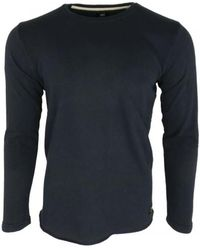 Edwin - Terry Ts Ls Men's In Blue - Lyst