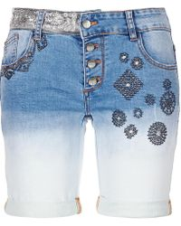 Desigual - Vlademu Women's Shorts In Blue - Lyst