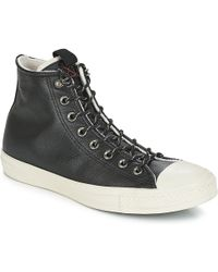ebbd2974c66 Converse - Chuck Taylor All Star Leather Hi Men s Shoes (high-top Trainers)