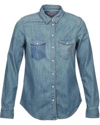 Esprit - May Women's Shirt In Blue - Lyst