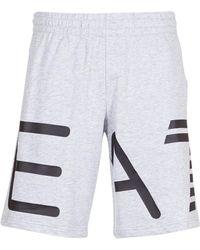 EA7 - Logo Men's Shorts In Grey - Lyst
