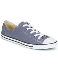 Converse - Chuck Taylor All Star Dainty Ox Women's Shoes (trainers) In Blue - Lyst