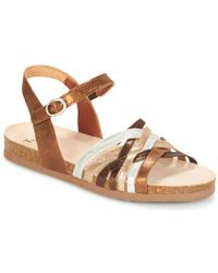 Think! - Tiania Women's Sandals In Gold - Lyst