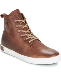 Blackstone - Inch Worker On Foxing Fur Shoes (high-top Trainers) - Lyst