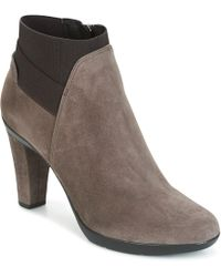 Geox - D Inspiration Stiv Women's Low Boots In Brown - Lyst