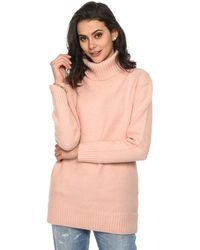 Baukjen - Pullover Lottie Roll Light Pink Women's Jumper In Pink - Lyst
