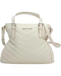 Armani Jeans - Borsa Shopping Giord Women's Shopper Bag In Beige - Lyst