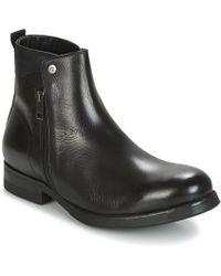 DIESEL   D-vicious Chzip Men's Mid Boots In Black   Lyst