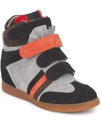 Serafini - Manhattan Colour Block Women's Shoes (high-top Trainers) In Grey - Lyst