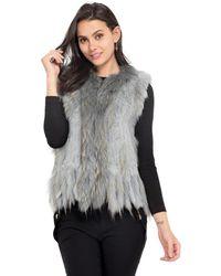 Oakwood - Sleeveless Fur Gilet Women's Sweater In Blue - Lyst