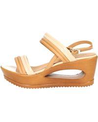 Zamagni - 842 Women's Sandals In Beige - Lyst