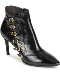 Michel Perry - 13163 Women's Low Ankle Boots In Black - Lyst
