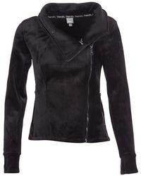 Bench - Her.biker Funel Women's Sweatshirt In Black - Lyst